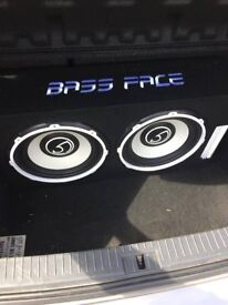 "Bassface POWER12.2 2600w Twin 12"" Active Car Sub Amp Amplifier Powered Bass Box"
