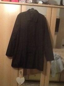 Large black long coat