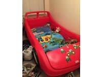 little tikes car bed