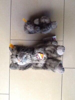Steiff 075360 Whiskas Katze mit Baby Neu Knopf ImOhr