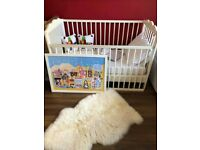 BABY/TODDLER'S COT BED, New mattress, Lots of extras