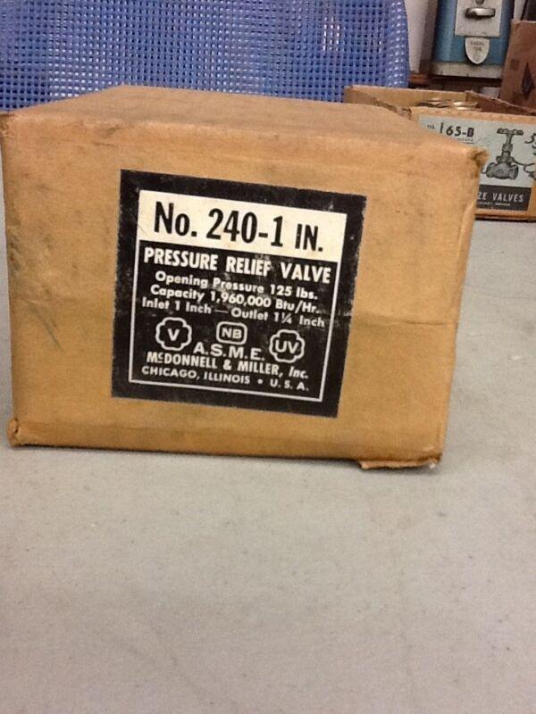McDonnell & Miller No. 240-1 IN. Pressure Relief Valve