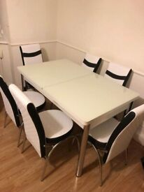 🤩🤩 EXTANTABLE TURKISH DINING SET WITH CHAIRS🤩🤩