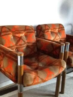 Set of 6 original 1970,s dining/ occasional chairs exceptionally