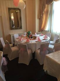 VERY CHEAP CHAIR COVERS AND SASHES