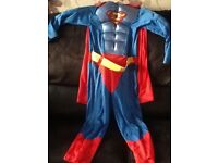 Superman fancy dress costume age 7/8