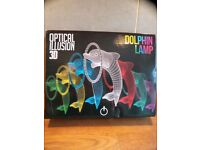 Dolphin Lamp - Optical Illusion 3D - Brand New Never Used - Colourful
