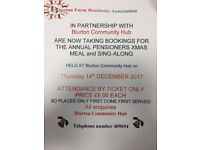 Over 60 Christmas party all welcome tickets available