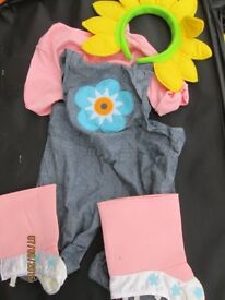 FIFI AND THE FLOWER TOTS FANCY DRESS OUTFIT AGE 2/3 YEARS NOT ORIGINAL HEADBAND YELLOW FLOWER ONE