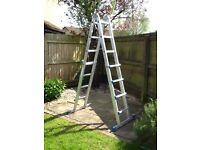 Extendable A frame ladder