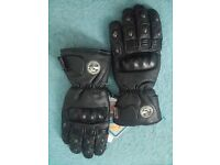 Motorbike Leather Gloves (Brand New with hang tags) Size= S