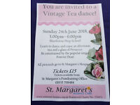 Tea Dance. Sherborne Prep School. Sunday 24th June. 3pm. In Aid Of St Margarets Hospice.