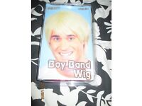 80s BOY BAND SHORT BLONDE FANCY DRESS WIG PARTY OR STAG DO