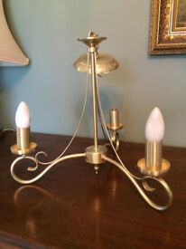 3 arm candelabra style ceiling light fittings