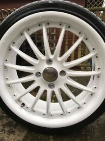 "Ford ST/RS 18"" alloy wheels and tyres"