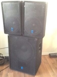 Powered 18 inch sub with 2 satellite speakers