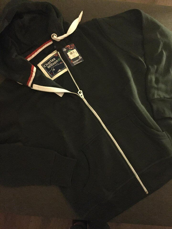 CHARLES WILSON HOODIE ZIPPERS GREAT QUALITY DIFFERSENT SIZES