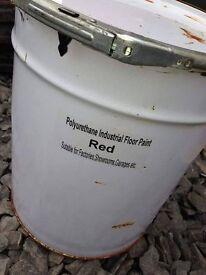 1K Polyurethane Floor Paint In GREY or RED 20 Litre Drums ( vauxhall vw bmw merc van corsa )