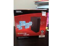 Toshiba Canvio® Desk 3 TB Portable HDD with USB 3.0 *BRAND NEW, SEALED*