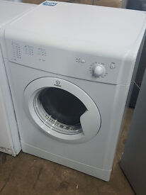 l313 white indesit 6kg vented tumble dryer comes with warranty can be delivered or collected