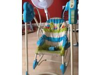 Rocking swing fisher price 3 in 1 birth to toddler detachable seat into stand