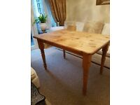 Solid Pine Oblong Kitchen Table