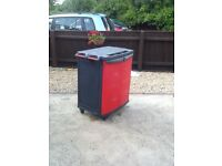 Tool chest by Keter this is large and on wheels with some cosmetic marks