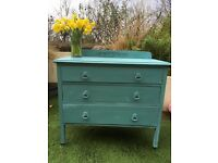 Hand Painted Shabby Chic Chest of Drawers