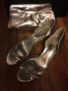 Wedding Shoes and Clutch size 8.5/9