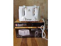 russell hobbs essentials white 4 slice toaster