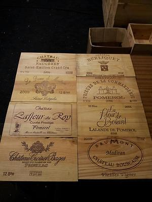 PACK OF 3 WINE WOODEN BOX CASE CRATE END PANEL / WALL PLAQUE MINI BAR DECOR  Decorative Wall End Panel