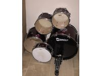 Full Premier Drum Kit - Comes with silencing pads and sticks