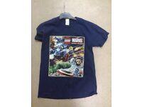 t shirt with lego motif size medium