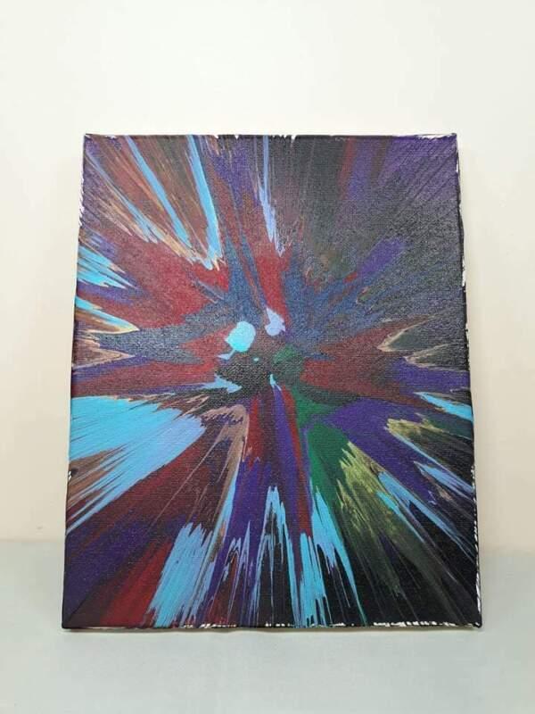 """The Hidden Moose 8"""" x 10"""" Spin Art"""