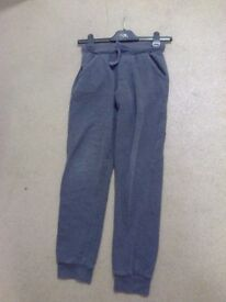 child's next grey tied cord jog pants size 12 yrs