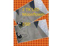 2 sets of DJ Speakers 1 set of speaker stands & 2 TK moonflowers