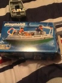 Playmobil customs boat for sale