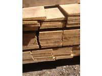 wood timber feather edge fence panels