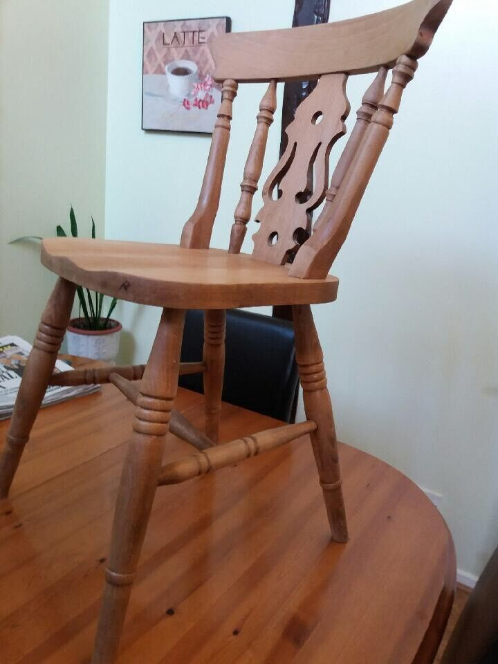 Oak wood kitchen Chairs for sale x6