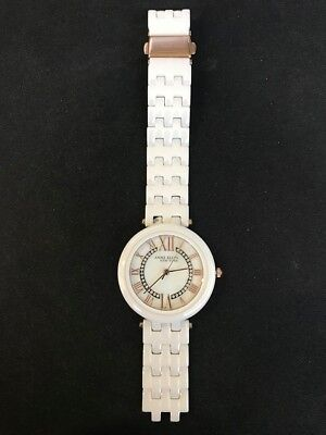 Anne Klein New York 12/2278RGWT Women's 35mm Crystal Accent Ceramic Watch.