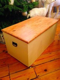 2 X Solid Pine Antique Chests (Restored)