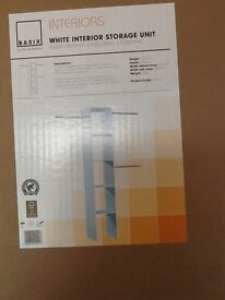White interior storage unit for fitted wardrobes or sliding wardrobes, NEW IN BOX, 2 sets available