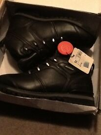 Brand new Size 7 black leather firetrap boots (never worn in box)