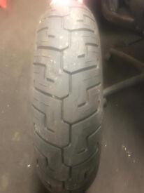 dunlop harley davidson motorbike tyre
