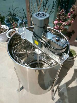 Electric 4 Frame Stainless Steel Honey Extractor With Stand Beekeeping 50cm Drum