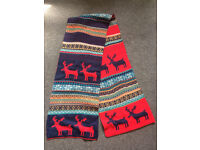Reindeer wooly Scarf from Norway