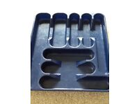 Plastic cutlery drawer insert
