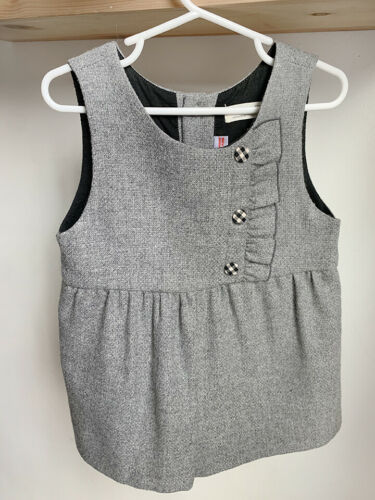 Zara Baby Collection Gray Wool Blend Shorts Romper Jumpsuit Toddler Size 3-4