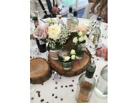 Unique Chubby Rustic Chic Glass Jars Ideal For Engagement Wedding table Centre Pieces