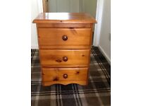 Small Pine Bedside Unit.